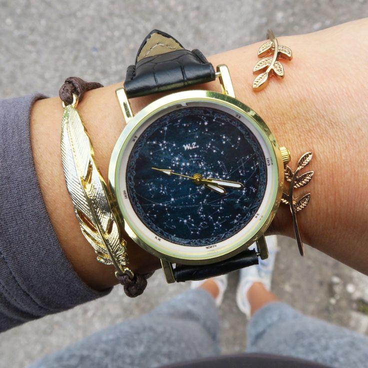 """WOODSTOCK WATCH CONSTELLATION!  """" Mi domando se le stelle sono illuminate perché ognuno possa un giorno trovare la sua.""""  Shop: www.woodstockzambon.com #woodstockzambon #stelle #constellazioni #orologi #watch"""