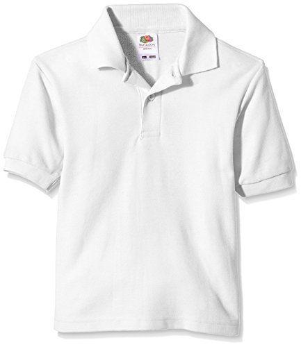 Fruit of the Loom Boy's Pique Polo Short Sleeve T-Shirt