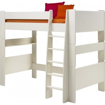 £249  Steens For Kids High Sleeper Bed in Solid Plain White