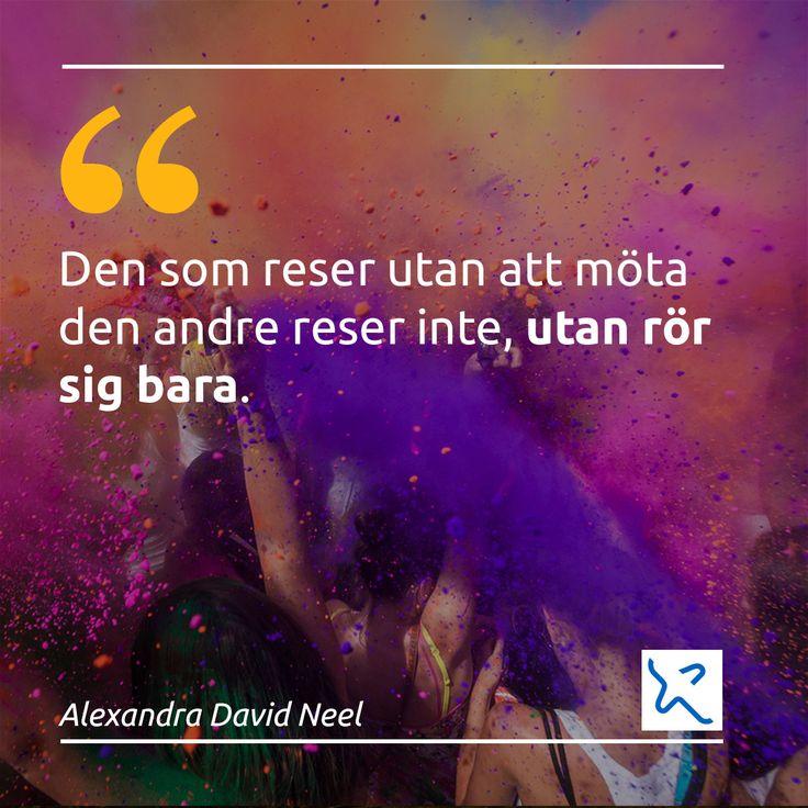 """""""Res för att lära dig, res för att leva."""" - Bravofly Sweden"""