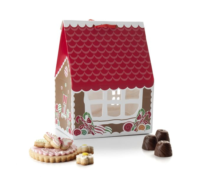 Caja para cookies-bombones / Little house box for cookies-s
