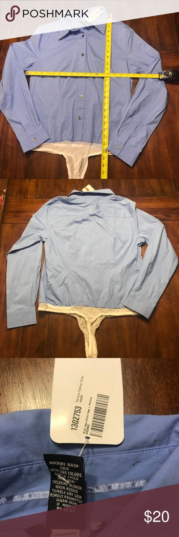 NWT Moda International blouse bodysuit large l lg New. Came from Victoria's Secret catalog. Moda international. I purchased from a different retailer. It's a true large.  🌸I'm not in the office as much so I need fewer office clothes- tank advantage!🦋all of my clothes are washed in cold and hung to dry💠Moving and need to purge - everything going CHEAP!🌺 Bundle and send me your offers!!! 💠 New York company express ann taylor loft dress top shirt American eagle ae pink Victoria's Secret…