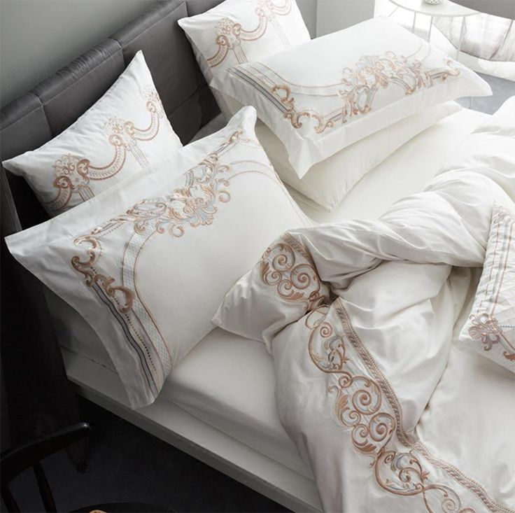 >> Click to Buy << Luxury embroidered palace bedding set adult teen,full queen king cotton double home textile flat sheet pillow case quilt cover #Affiliate
