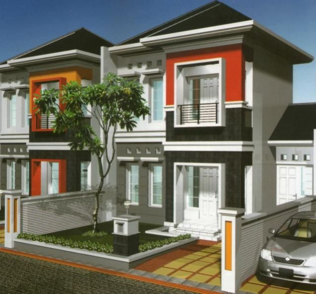 modern bertingkat 2 gaya minimalis #rumah #minimalis #fasad #desain