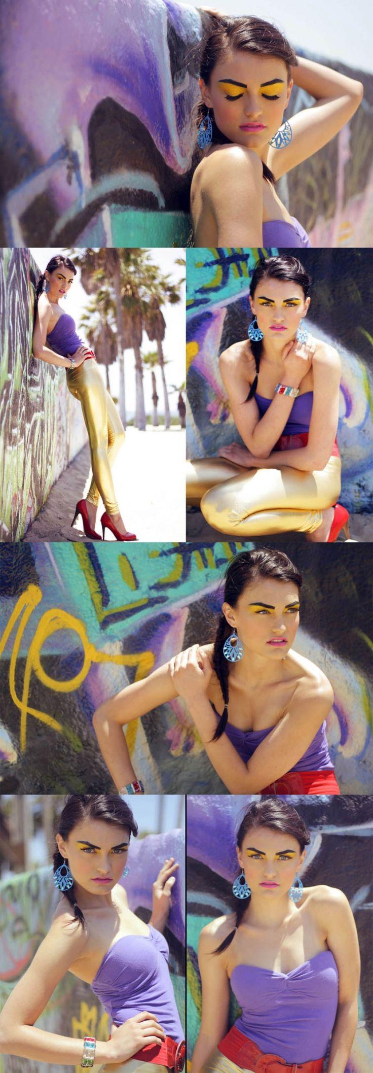 Purple graffiti photoshoot