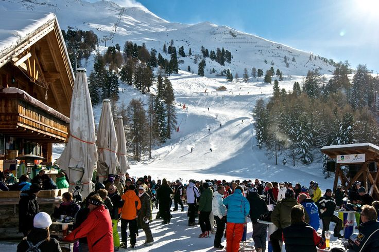 Paznauner Taja, Ischgl. Perfect spot for Apres-ski on the slope! http://ludwigs.nl/14-great-things-to-do-in-ischgl-during-closing-weekend/