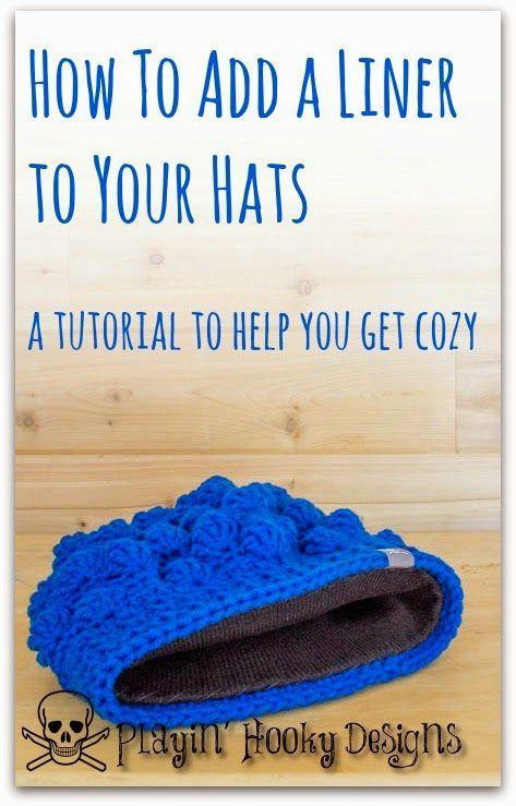 Jogando desenhos Hooky: Adicionar um forro para seus chapéus • Teresa Restegui • www.pinterest.com