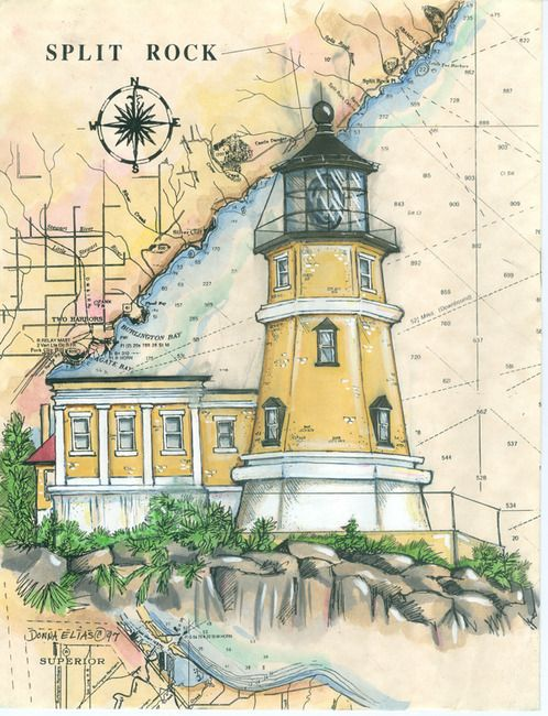 Split Rock #Lighthouse Print (Donna Elias) http://www.roanokemyhomesweethome.com