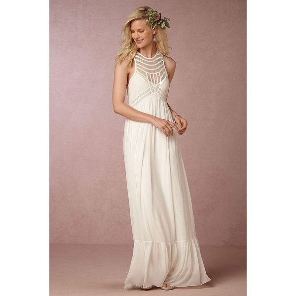 Anthropologie Wedding Gown: Anthropologie Jessalyn Wedding Guest Dress ($140) Liked On