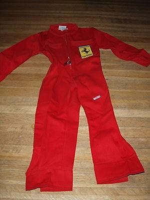 FERRARI toma boys XS mechanic outfit jumpsuit pants 2T 3T ...