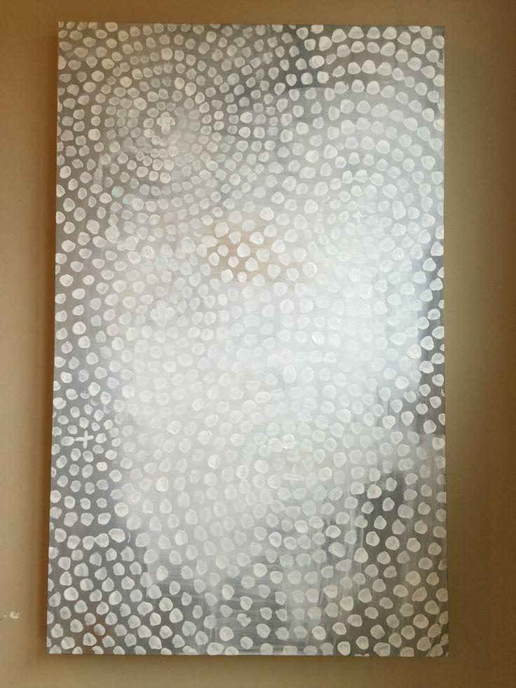 Bathroom Canvas Art: Acrylic Painted Canvas 30x48 Painted Canvas