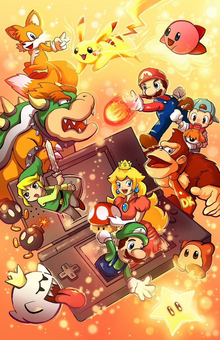 Anime Characters For Smash : Nintendo ds characters by michellescribbles on deviantart