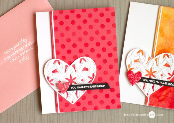 Inked Backgrounds Video by Jennifer McGuire Ink. Uses Press 'n Seal to hold cardstock for inking.