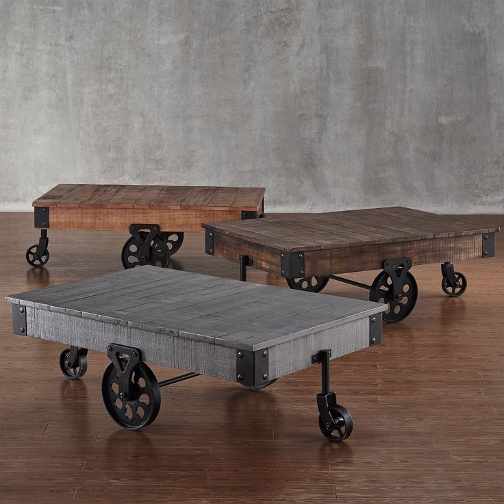 Stylish Designer Coffee Table Industrial Antiques Steam: Myra Vintage Industrial Modern Rustic 47-inch Coffee Table