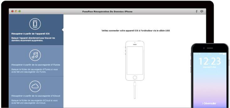 FonePaw Récupération De Données iPhone : la récupération simple et rapide des données perdues