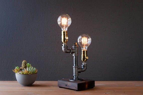 Tischlampe Schreibtischlampe Edison Steampunk Lampe rustikale Home Decor Geschenk für Männer Bauernhaus Dekor Home Decor Schreibtischzubehör-industrielle Beleuchtung