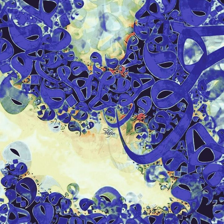 DesertRose,;,beautiful calligraphy art,;,