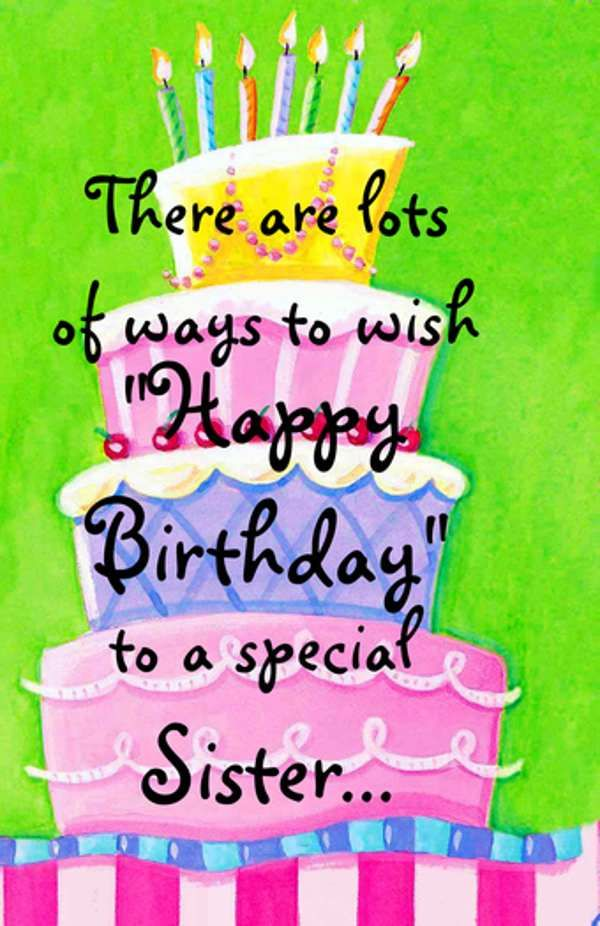 Best 25 Sister birthday quotes ideas – Funny Birthday Greetings for Sister in Law