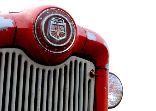 Ford Tractor Grill : Antique red ford tractor grill photograph photo by