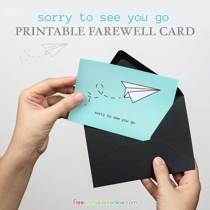 Decisive image throughout printable goodbye cards