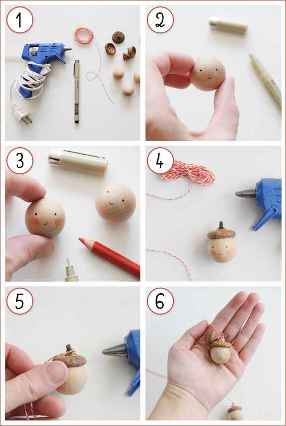 D.I.Y. Acorn-toppedOrnaments - Home - Creature Comforts - daily inspiration, style, diy projects + freebies