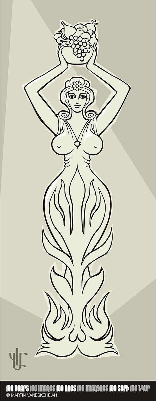 002. Anahit, armenian fertility goddess / Anahit, diosa armenia de la fertilidad / Անահիտ, հայկական պտղաբերության  դիցուհի © Martin Vaneskeheian