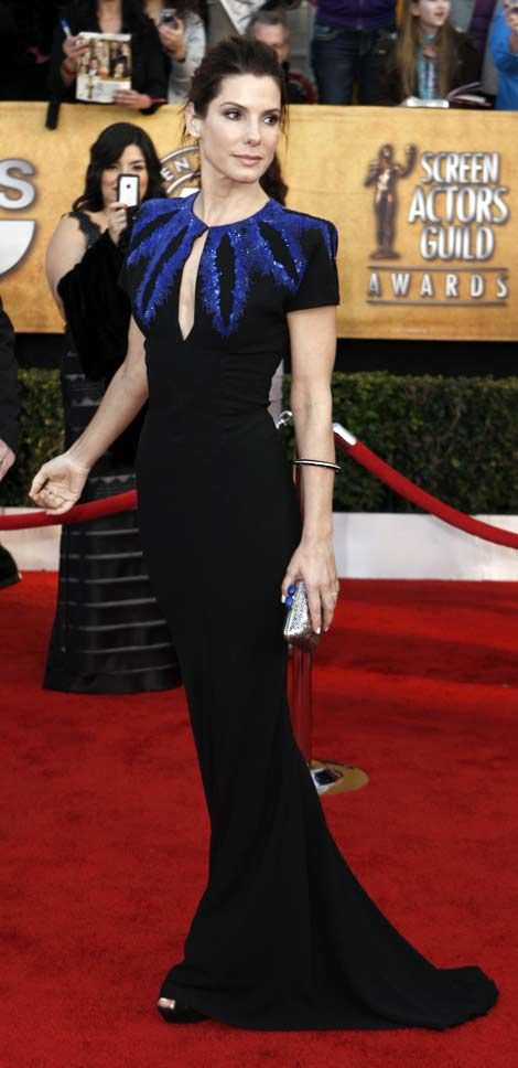 Sandra in Alexander McQueen. I would literally wear a garbage bag of he designed it.