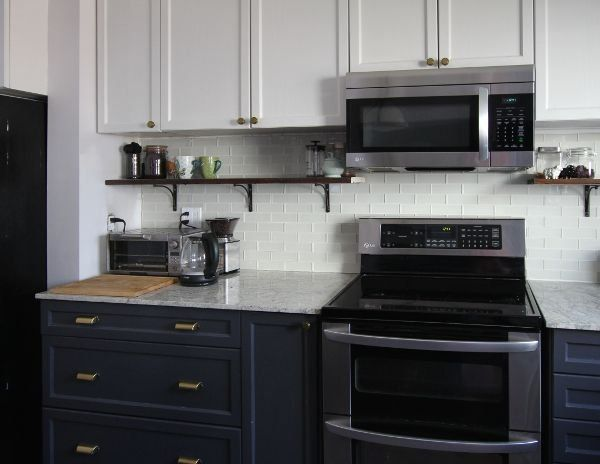 How To Paint Kitchen Cabinets 2 Ways House By The Bay Design 1000 Prefab Kitchen Cabinets Diy Kitchen Island Prefab Cabinets