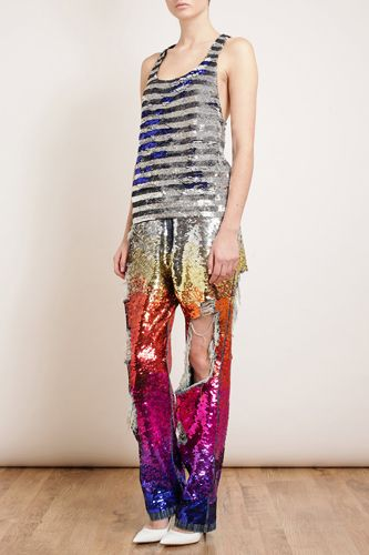 Ashish Distressed Sequin Denim Jeans, $1,664, available at Browns.
