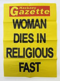 Rachel Harrison, 'Woman Dies in  Religious Fast,' 2009, Public Art Fund Benefit Auction 2015
