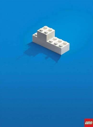#clever #lego #ad  The simple visual promotes exactly what children see when they play with Lego.