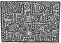 Disegni da colorare per adulti Keith Haring