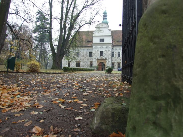Doudleby nad Orlicí (east Bohemia)- view from the parc´s gate