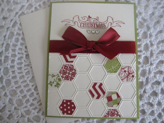 Handmade Greeting Card: Merry Christmas on Etsy, £2.32