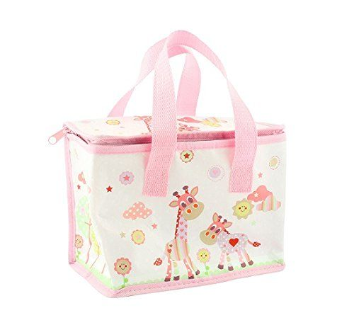 Lesser and Pavey - Little Treats Little Sunshine Giraffe Picture Foil Insulated Lunch Bag (Pink)
