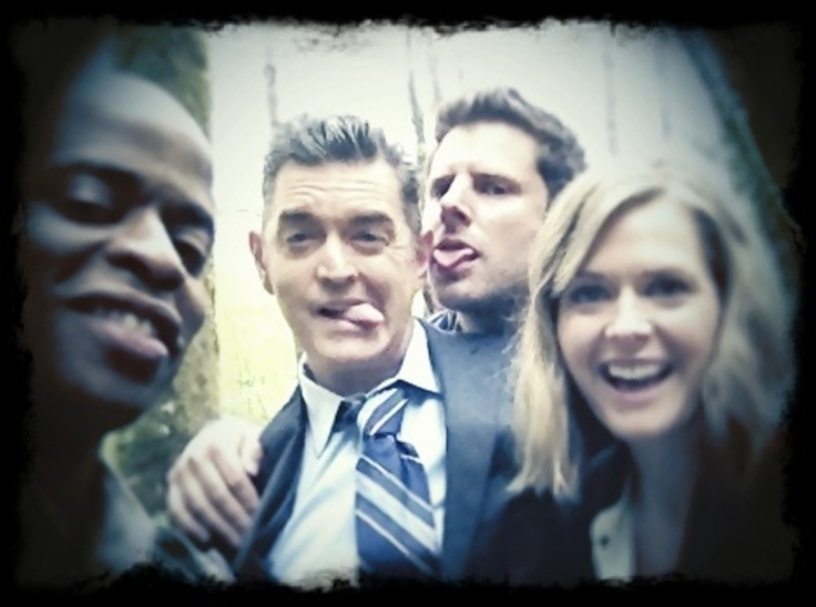 Dule Hill, Tim Omundson, James Roday & Maggie Lawson