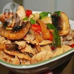 Thai Ginger Chicken with Rice (Gai Pad King) @ allrecipes.com.au