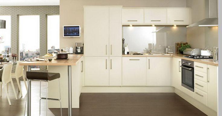 Krem Rengi Mutfak Dolabı Modelleri