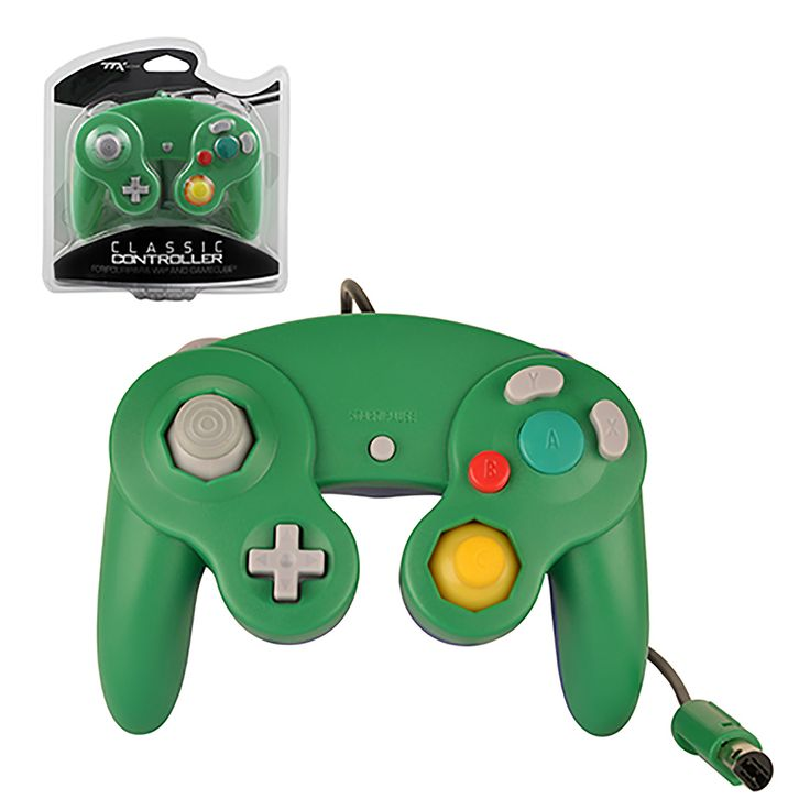 New Wired Green/Blue Controller for GameCube & Wii https://www.retrogamingstores.com/gaming-accessories/gamecube-wii-controller-wired-new-green-blue-ttx-tech   Enjoy increased controller stability and ease of use!