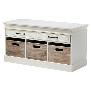 Avignon halbank hout wit 50x100x40 cm in de beste prijs-/kwaliteitsverhouding, volop keuze bij GAMMA