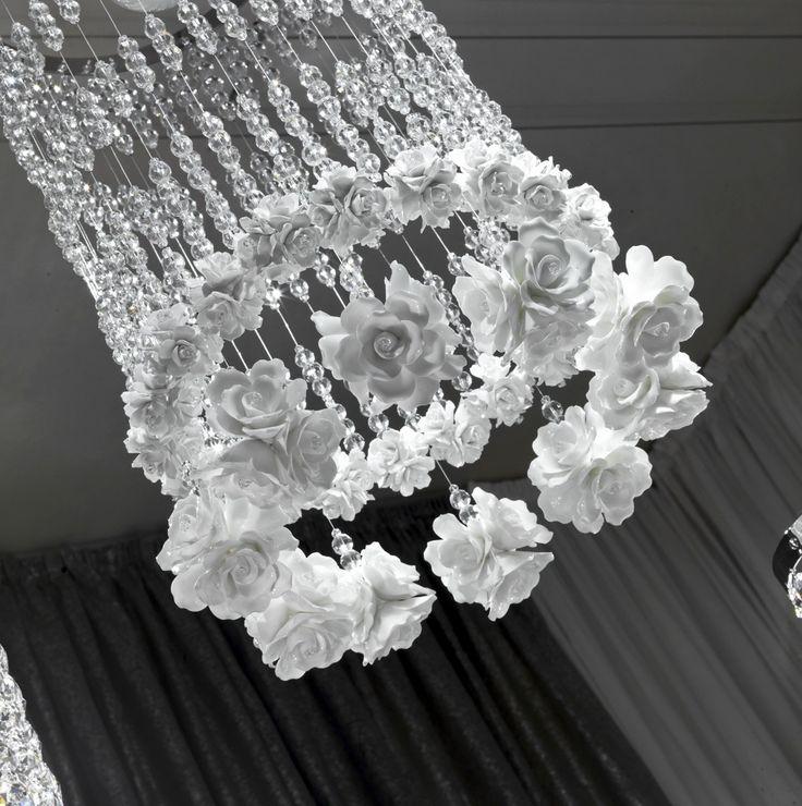 Spina Raindrops and Roses chandalier