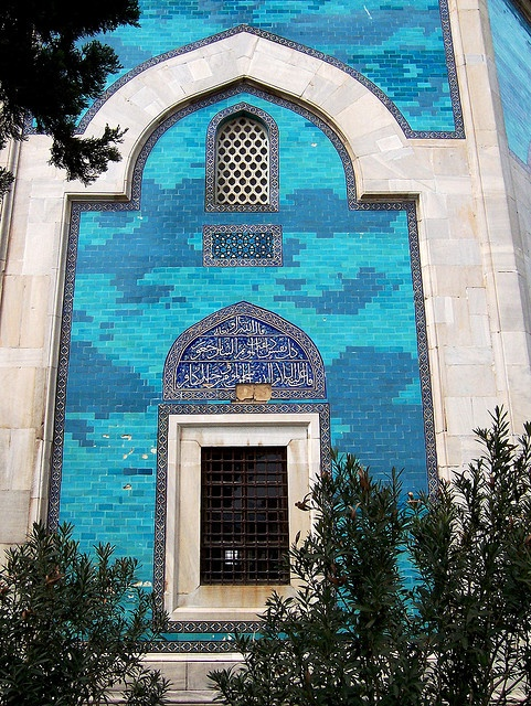 Blue Tiles of Yesil Turbe, Bursa, Turkey by David, via Flickr