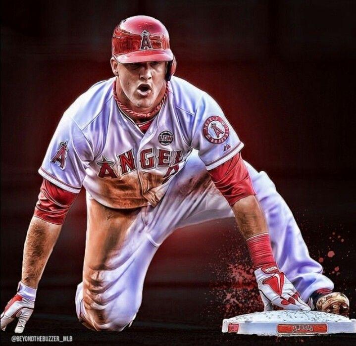Mike Trout Angels Major League Baseball Baseball Mike Trout Angels Baseball