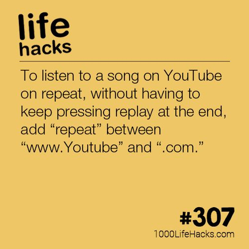 The post Listen To Youtube On Repeat appeared first on 1000 Life Hacks.