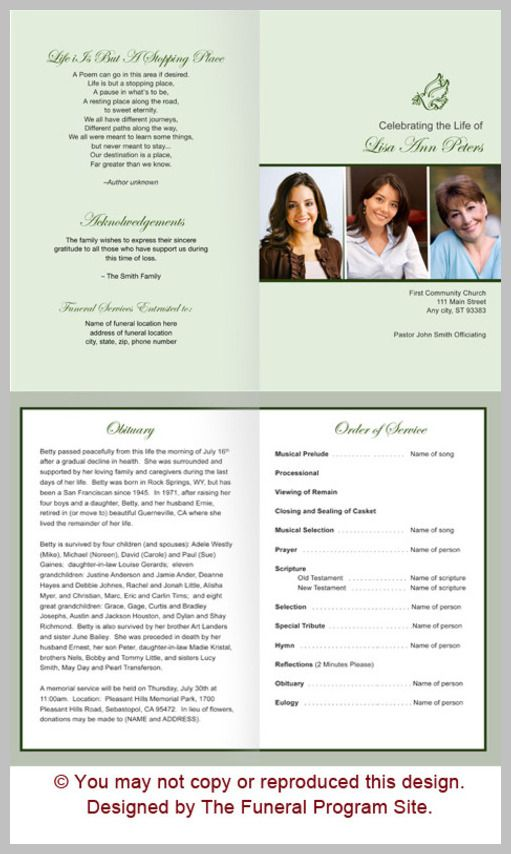 18 best Funeral Stationery Designs images on Pinterest Funeral - funeral program template free