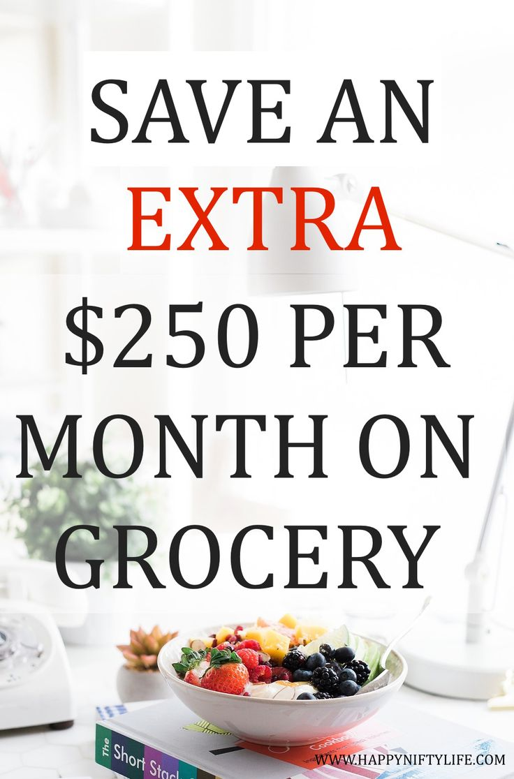 Save an extra $250 per month on grocery