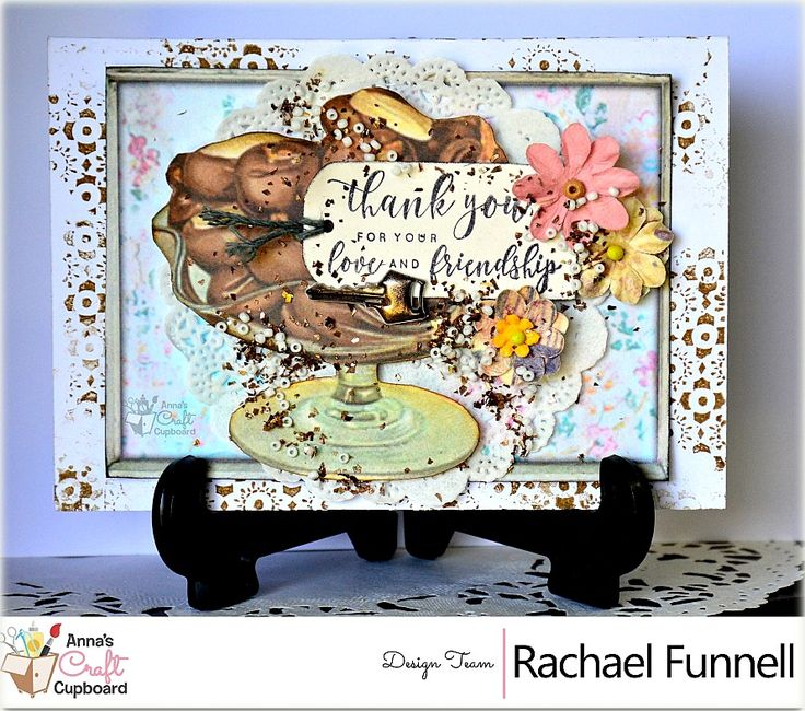 Rachael Funnell has some stunning cards to share with you, featuring 7gypsies Architextures collection. This is a fantastic collection with a strong vintage feel and LOADS of texture!! Here we have her card 'Thank You'  You can find Rachael's cards over on Anna's blog...  The complete 7Gypsies Architextures collection can be found in the Anna's store https://www.annascraftcupboard.com.au/store/7-gypsies-c-4677/
