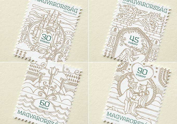 Hungarian Folk Tales Stamps