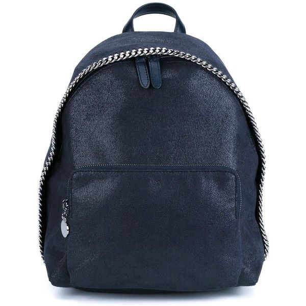 Stella McCartney Fallabella Backpack (26 545 UAH) ❤ liked on Polyvore featuring bags, backpacks, blue, stella mccartney backpack, zipper bag, stella mccartney, rucksack bag and backpacks bags