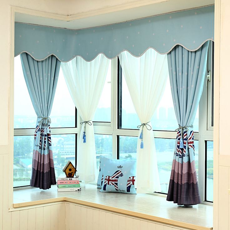 Horse Printed Cartoon Purple/Blue Blackout Curtains For Living Room Short  Curtains For Kids Baby